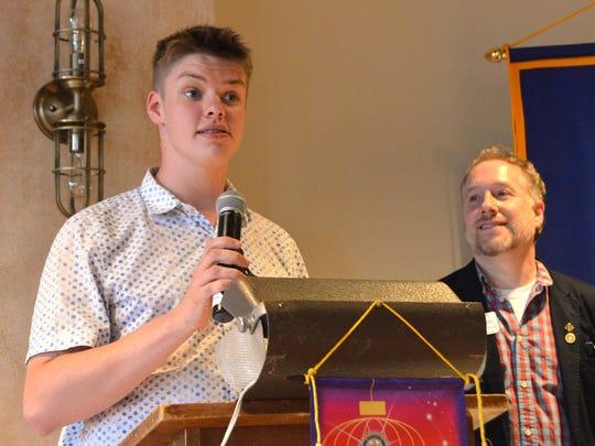 Conor Cutts receives the James B. Marsh Memorial Award.