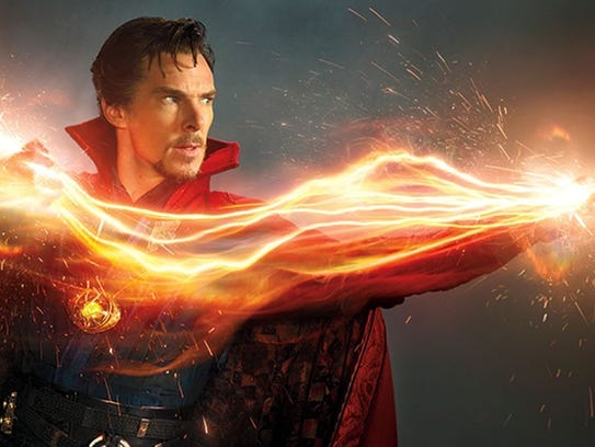 "Benedict Cumberbatch stars as ""Doctor Strange."""