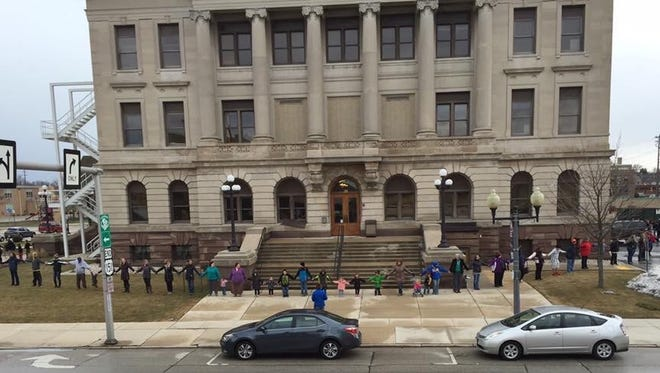 The Children's Safety Network is hosting a Hands Around the Courthouse event at 4:42 p.m. April 5 to show community solidarity in the fight against child abuse and neglect.