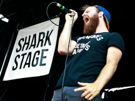 The Wonder Years perform during the Vans Warped Tour at Quail Run Park in Mesa on Tuesday, June 23, 2015.