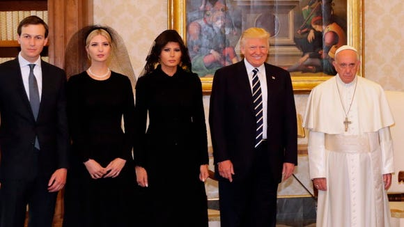Pope Francis with President Trump, First Lady Melania