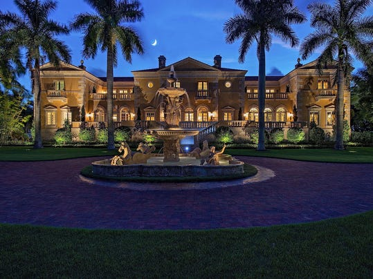 Two naples mansions among priciest homes for sale in florida for Mega mansions in florida