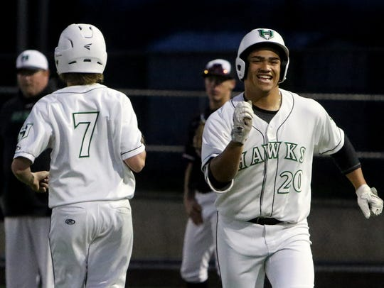 Iowa Park's Chris Dickens (20) and the Hawks have plenty to be excited about entering the 2019 baseball season.