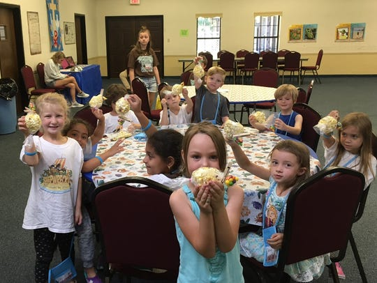 Snacks were a hit at vacation Bible school.