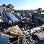 This photo shows some of the damage from tornados that tore through the city of Kokomo on Nov. 17.