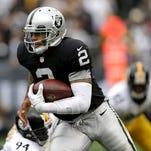 Oakland quarterback Terrelle Pryor leads all NFL quarterbacks with 391 yards rushing this season.