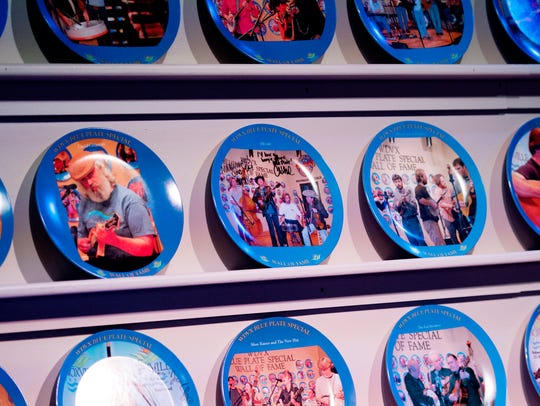 The WDVX 89.9 FM Blue Plate Special display is seen
