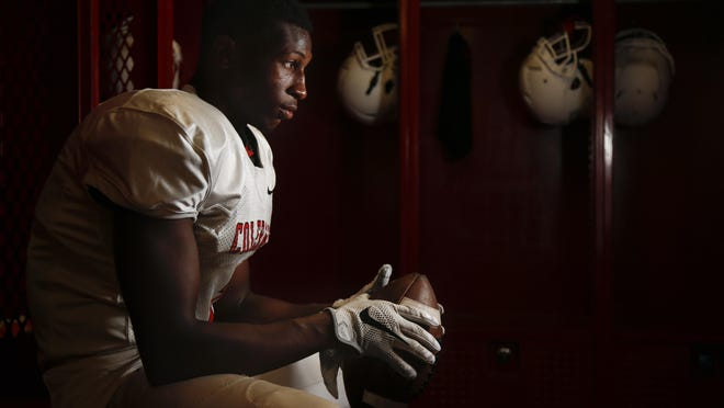 Colerain cornerback Amir Riep, who recently verbally committed to Ohio State, is pictured, Wednesday, Aug. 3, at Colerain High School.
