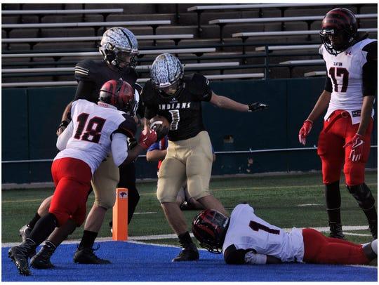 Comanche High School wide receiver Trevor Higginbotham
