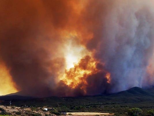 Goodwin Fire south of Prescott