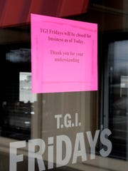 TGI Fridays, a restaurant and bar at 3945 Division St., has closed, according to a sign on its front doors.