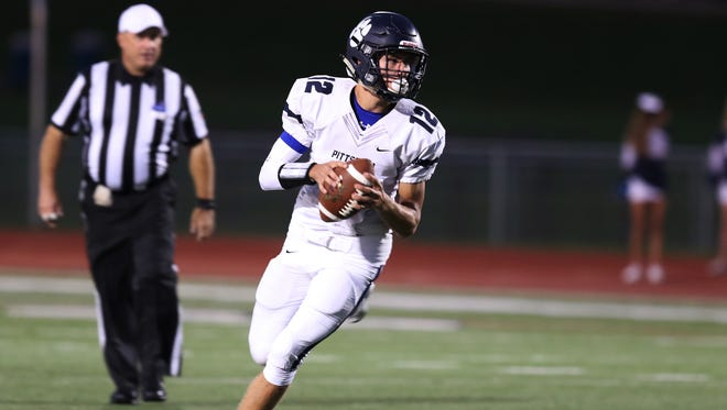 Pittsford senior quarterback Matt LaRocca, one of the team's co-captains, will lead the Panthers against the Victor Blue Devils on Aug. 30, during the third Teddi Bowl.