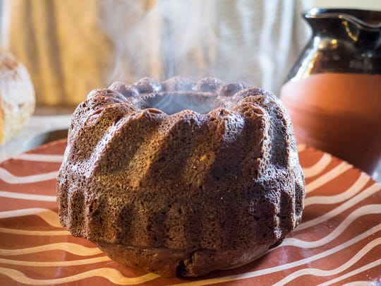 Covenhoven House's hearth-made chocolate bunt cake.