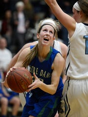 Former Green Bay Notre Dame standout Allie LeClaire, now playing at the University of Wisconsin-Green Bay, is a nominee for High School Girls Basketball Player of the Year for 2014 at the Wisconsin Sports Awards.