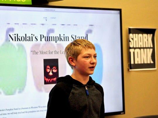 Austin Nikolai began selling pumpkins and gourds with