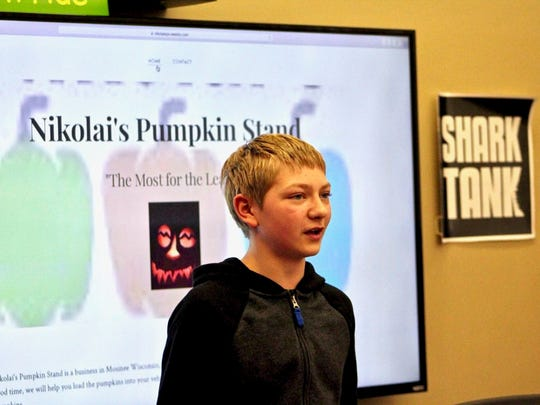 Austin Nikolai began selling pumpkins and gourds with his dad and said Shark Tank funds could help him expand his business to offer sought-after white and blue pumpkins.