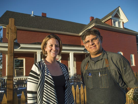 Jesse Doerffel and Chef Joel Navejas of The Farmhouse at Jessup Farm, located off of Timberline Road.