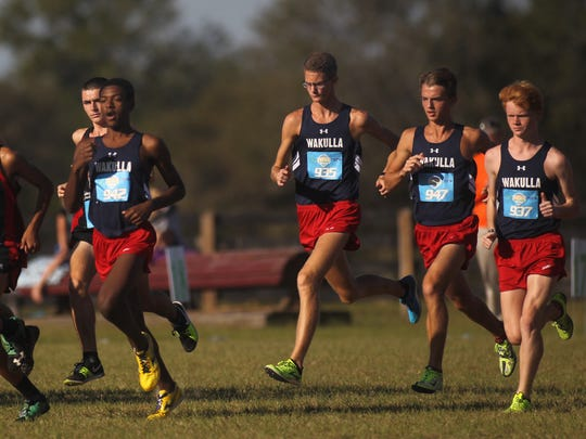 Wakulla's boys cross country team took fourth place