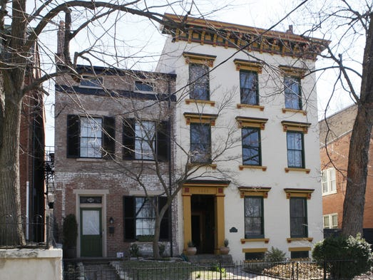 The two Italianate houses in Over-the-Rhine.