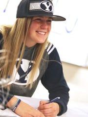 Desert Hills' Ashley Beckstrand signed her National