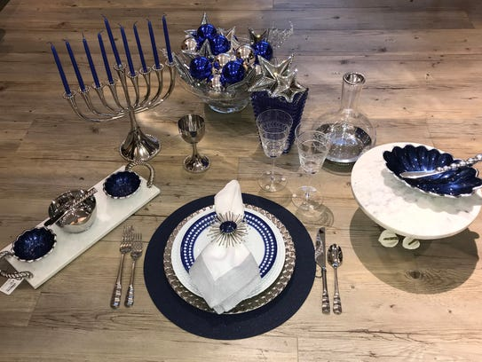 When setting a table for Hanukkah, start with blue