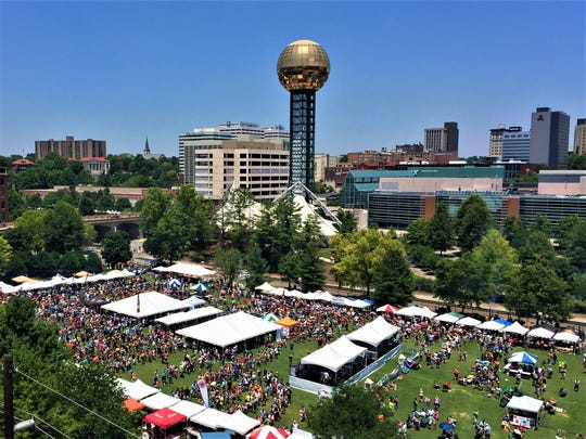 A bird's eye view of the 2016 BKW Festival.