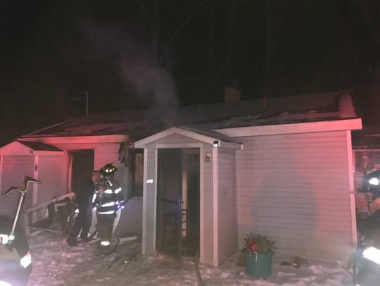 Arlington firefighters responded to a structure fire