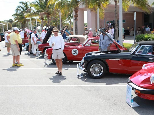 Visitors flock to the Classics at the Beach car show
