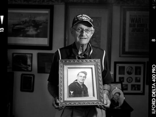 USSAZ- USS Arizona - Lonnie Cook, of Oklahoma, was