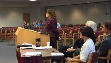 Judy Preston, associate superintendent for financial services at BPS, briefs the school board at a workshop.