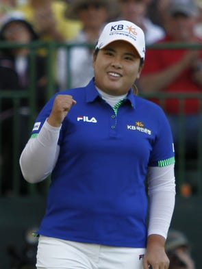 Inbee Park after her playoff win aginst Brittnay Lincicome.
