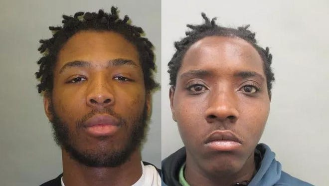 Charles Marion Brown, left, and Jujuan Alexon Williams