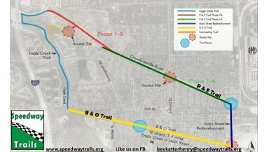 Speedway has unveiled a rail-trail plan.