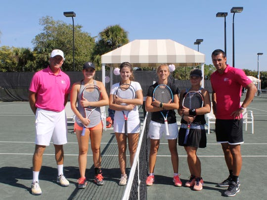 Bosom Buddies 3rd Annual Tennis Exhibition at The Club & Spa at Fiddler's Creek.