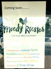 """A """"seafood and farm-focused restaurant"""" called Moody Rooster is coming to the Thousand Oaks site vacated by Kaminari Sushi, according to a sign posted at the site."""