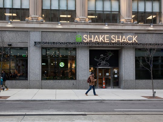 Shake Shack brings its first store to Michigan, photographed in Detroit, Tuesday, Feb. 21, 2017.
