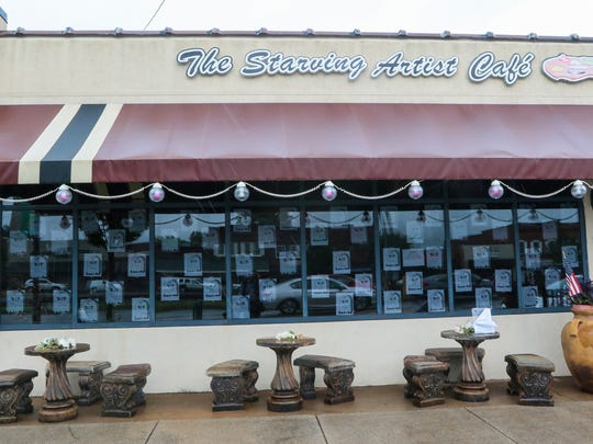Owner Vicki Ciplickas papered the windows with statements criticizing City Hall for not renewing her business license.The Starving Artist Cafe in downtown Easley closed Saturday after six years of operation.