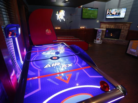 The game room at  Brielle Ale House Sports Bar and Grille.