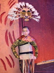 "Asher Smith as ""Mufasa"" is decked out in costume for the Prelude Theater Group performance of ""The Lion King, Jr."""