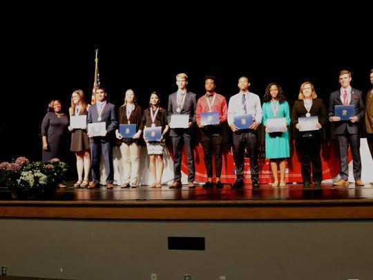 2018 Senior Academic Award winners from West Florida