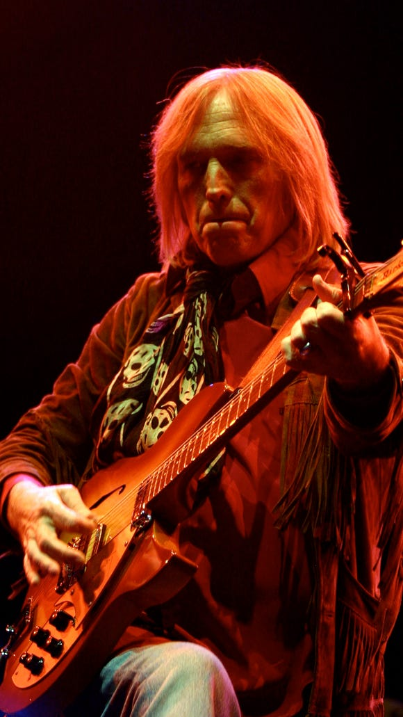 "Tom Petty performs with the Heartbreakers during Vegoose 2006. His second album with Mudcrutch, ""2,"" was one of 2016's best releases."