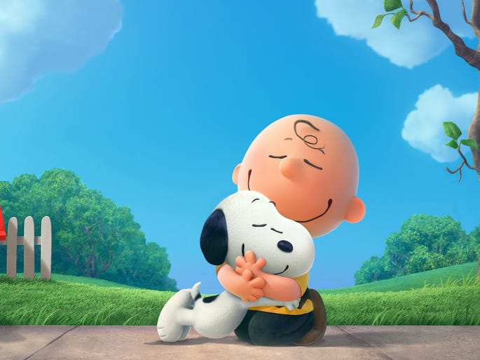 Charlie Brown and boy's best friend Snoopy reunite on the big screen in 'Peanuts,' due Nov. 6, 2015.