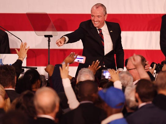 Phil Murphy speaks at the Robert Treat Hotel in Newark