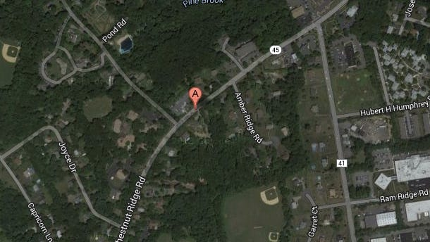 Site of collision between motorcycle and car on Chestnut Ridge Road in Chestnut Ridge on Saturday, Sept. 27, 2014.
