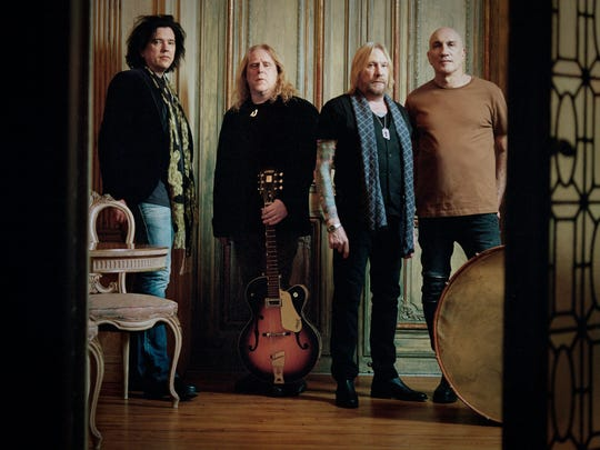 Gov't Mule from left, Jorgen Carlsson, Warren Haynes, Matt Abts and Ulster County resident Danny Louis.