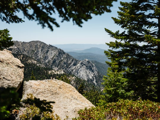 A view from Pacific Crest Trail in the San Jacinto Wilderness