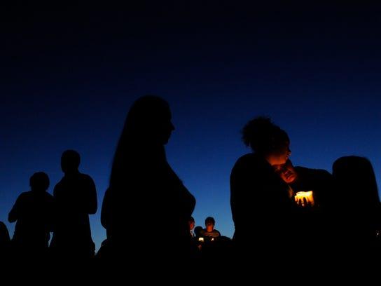 AP Oregon School Shooting Vigil