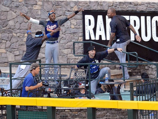 When fans wear Dodger gear behind home plate bad things can happen