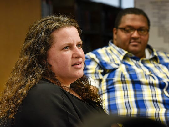 Organizers Sara Greenberg-Hassan and Marcus Paden talk