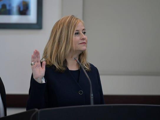 Nashville Mayor Megan Barry appeared in court in Nashville